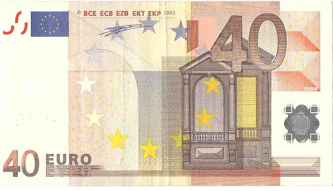 Convert 40 EUR / 40 USD to major currencies
